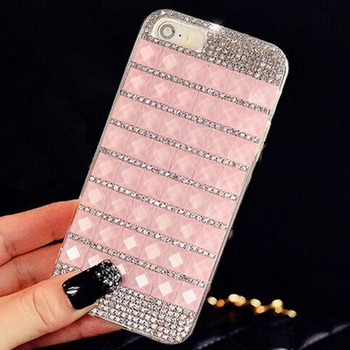Sunjolly Rhinestone Case Diamond Bling Cover Crystal coque fundas capa for iPhone X 8 /7 Plus 6/6S Plus 5S 5 SE 5C 4S 4 carcasa