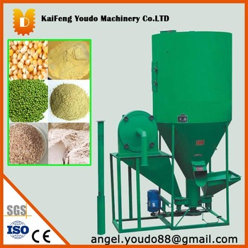 1000kg/h Vertical Animal feed crushing and mixing machine