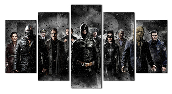 5pcs/set UnFramed Printed Batman Movie Poster Group Painting children's room decor print poster pic canvas