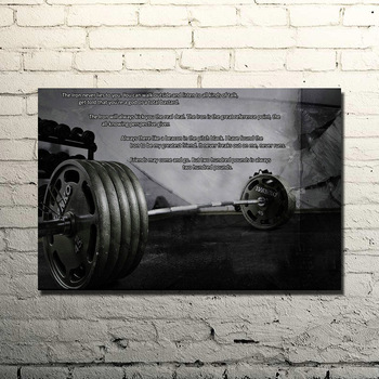 Bodybuilding Motivational Quote Art Silk Poster Print 13x20 24x36inches Gym Room Decor Fitness Sports Picture 02-62