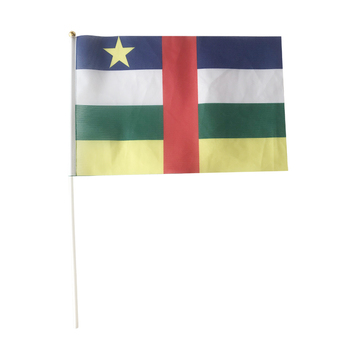 Central African flag Vietnam hand flag flaying 20X30cm 10piece