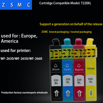 4pcs compatible epson 220xl ink cartridge for XP-220/XP-320/XP-324/XP-420/XP-424 WF-2630/WF-2650 printer ink cartridge t220xl