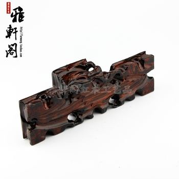 Red solid wood base teapot stone base crafts decoration base pallets