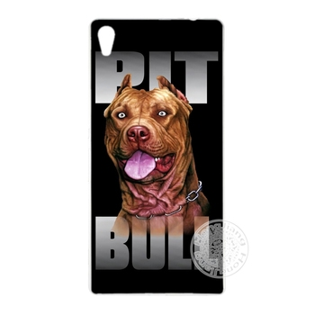 HAMEINUO pitbull dog Cover phone Case for sony xperia z2 z3 z4 z5 mini plus aqua M4 M5 E4 E5 C4 C5