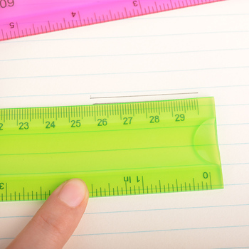 10 Pcs Transparent Flexional Soft Ruler Plastic Straight Ruler 30cm 3 Colors Drafting Supplies Kids Drawing Templates Deli 6209