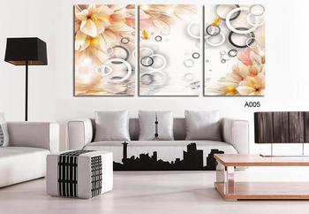 3D 3Panels Flower Home Wedding Decoration Wall Painting Wall Art Picture On Canvas Prints Decor Pictures Paints