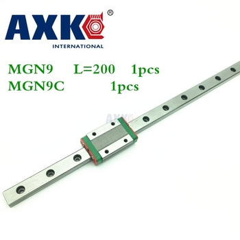 2018 New Sale Cnc Router Parts Linear Rail Axk 1pc 9mm Width Linear Guide Rail 200mm Mgn9 + Mgn Mgn9c Blocks Carriage For Cnc